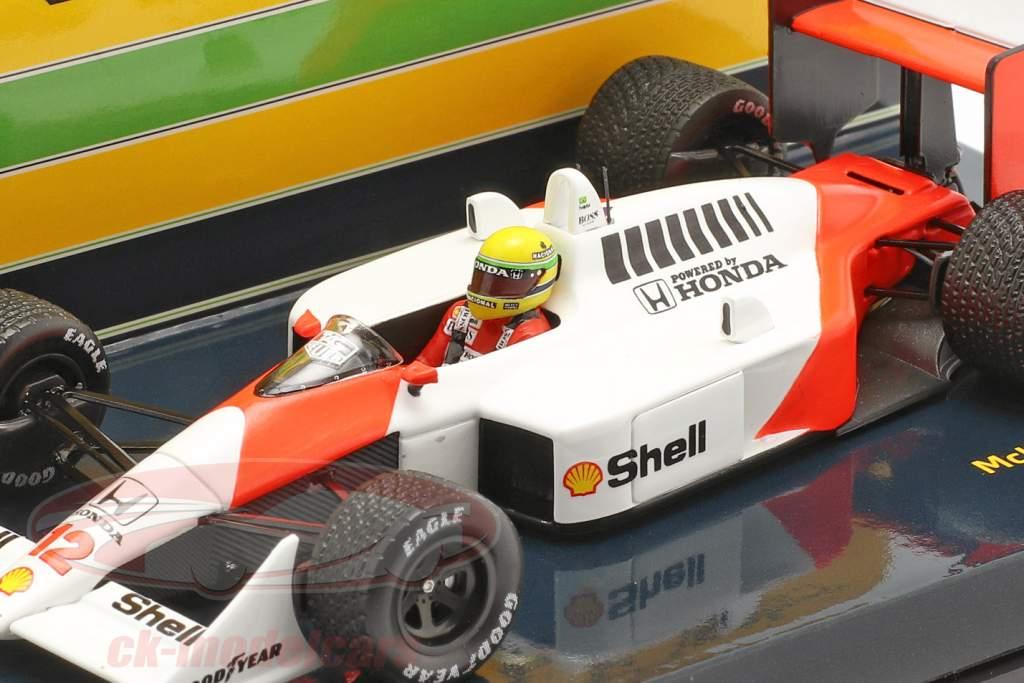 A. Senna McLaren MP4/4 #12 Großbritannien GP Weltmeister F1 1988 1:43 Minichamps