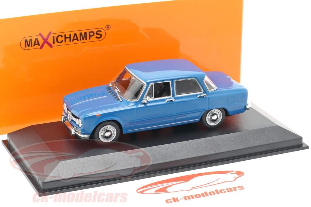 Alfa Romeo Giulia 1600 année de construction 1970 bleu 1:43 Minichamps