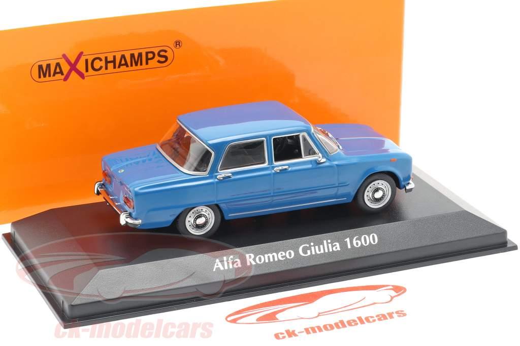 Alfa Romeo Giulia 1600 Bouwjaar 1970 blauw 1:43 Minichamps