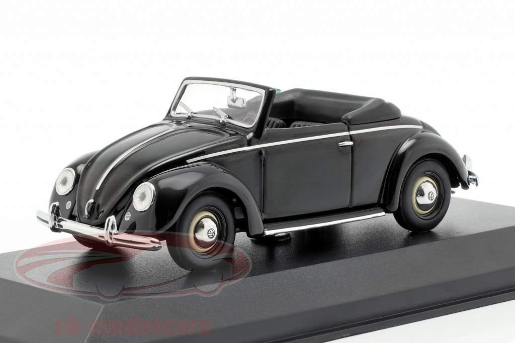 Volkswagen VW Hebmüller Cabriolet Baujahr 1950 schwarz 1:43 Minichamps