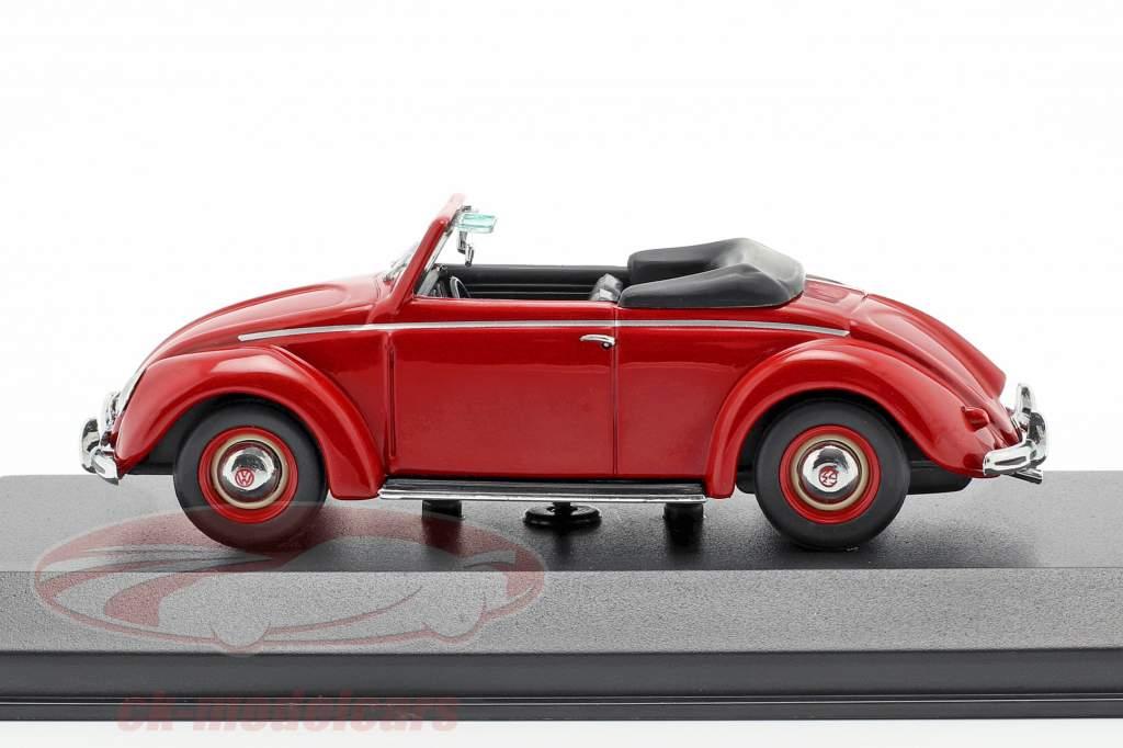 Volkswagen VW Hebmüller cabriolé año de construcción 1950 rojo 1:43 Minichamps