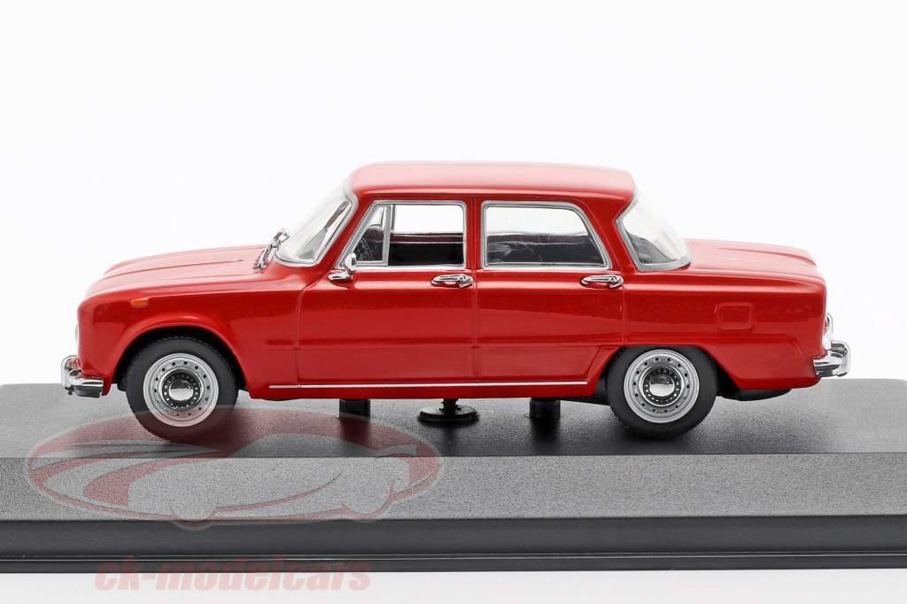 Alfa Romeo Giulia 1600 Opførselsår 1970 rød 1:43 Minichamps