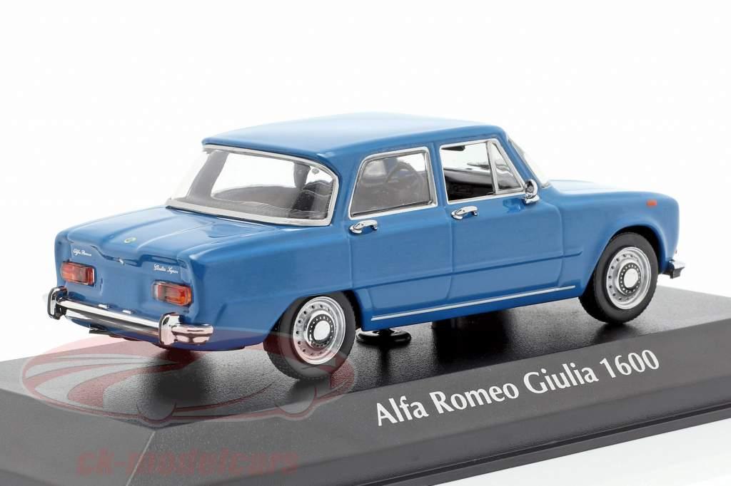 Alfa Romeo Giulia 1600 año de construcción 1970 azul 1:43 Minichamps