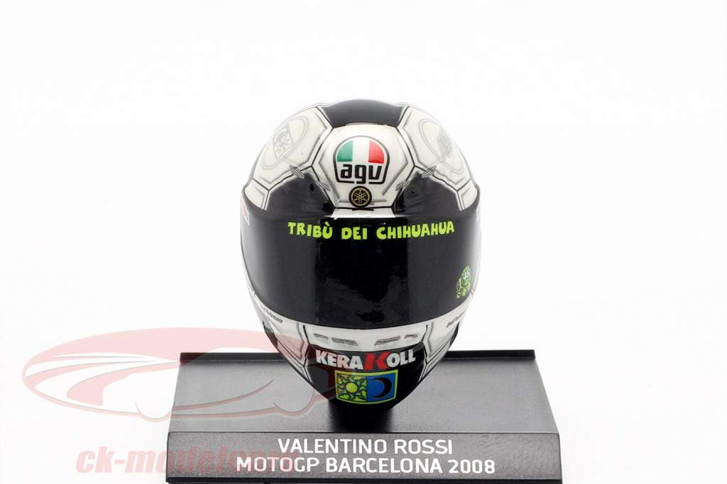 Valentino Rossi Barcelona GP champion du monde MotoGP 2008 AGV casque 1:10 Minichamps