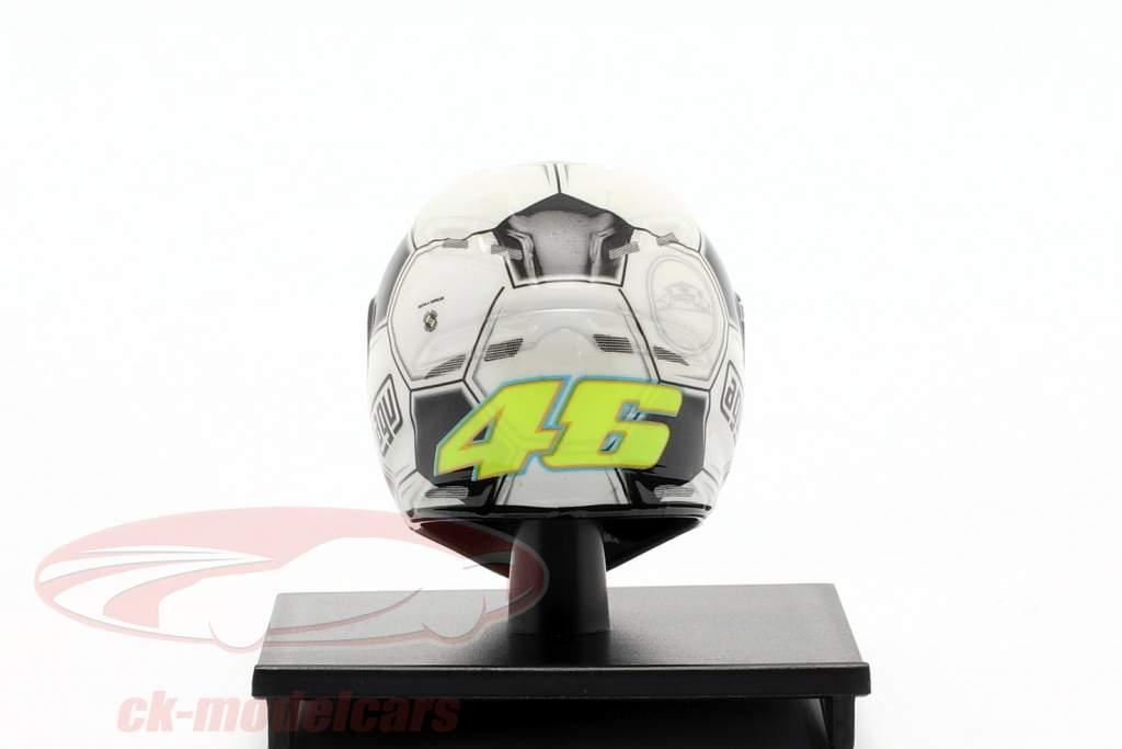 Valentino Rossi Barcelona GP campione del mondo MotoGP 2008 AGV casco 1:10 Minichamps