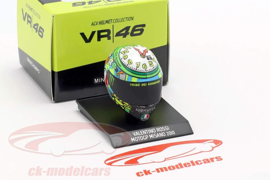Valentino Rossi 3rd Misano MotoGP 2010 AGV helmet 1:10 Minichamps