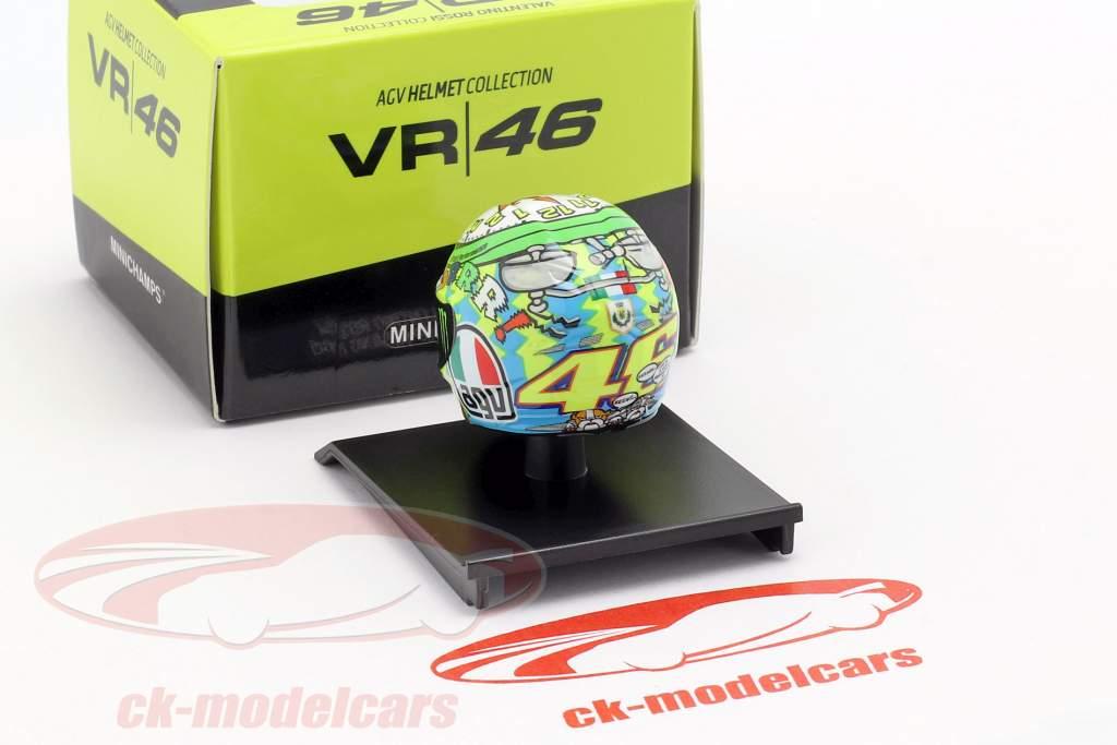 Valentino Rossi tercero Misano MotoGP 2010 AGV casco 1:10 Minichamps