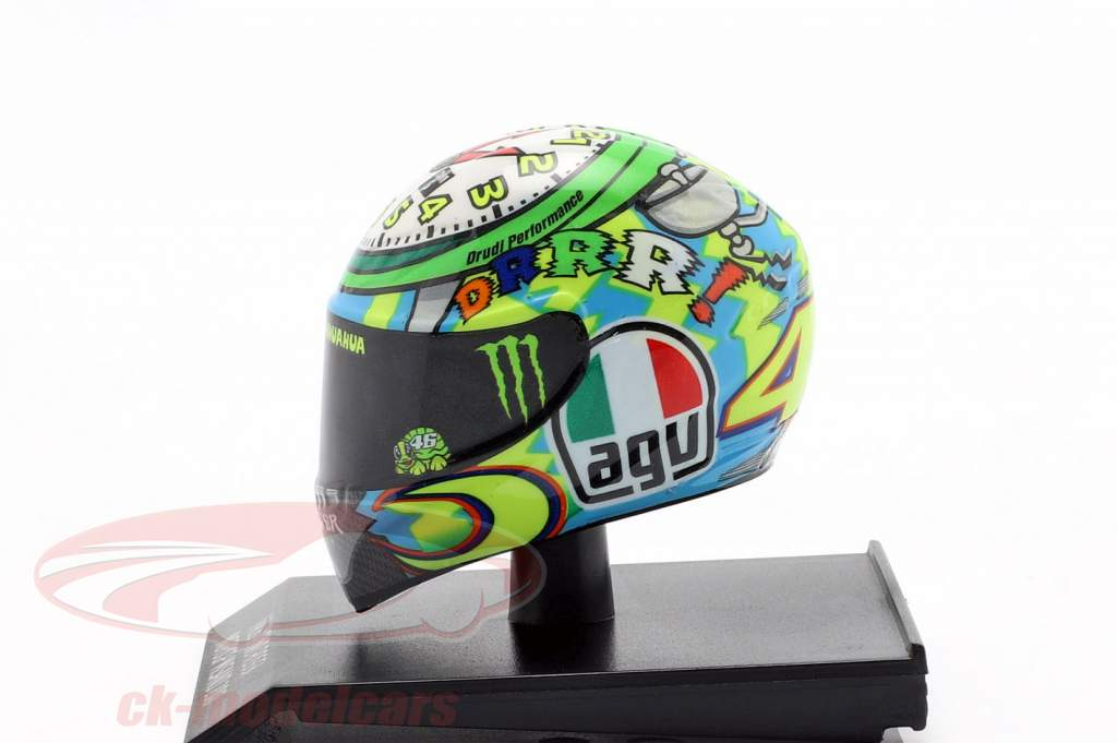 Valentino Rossi 3 Misano MotoGP 2010 AGV casque 1:10 Minichamps