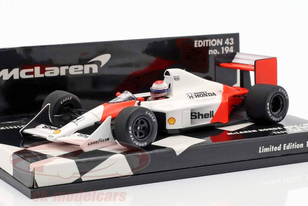 Emanuele Pirro McLaren Honda MP4/4B Test Car Formel 1 1988 1:43 Minichamps