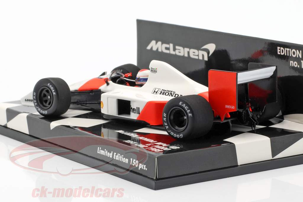 Emanuele Pirro McLaren Honda MP4/4B Test Car formule 1 1988 1:43 Minichamps