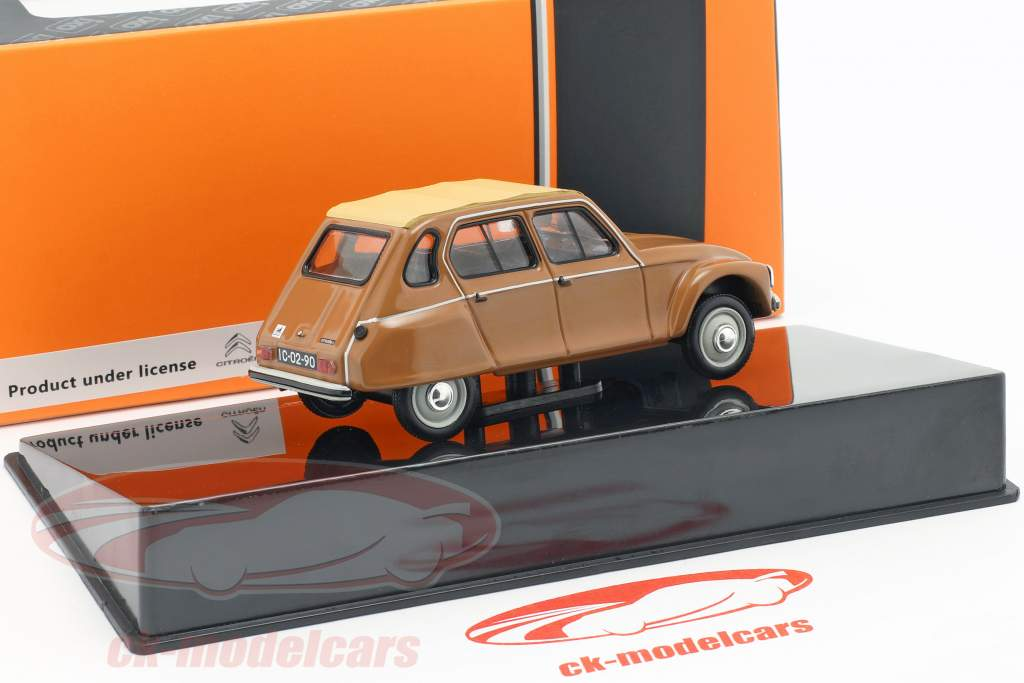 Citroen Dyane Nazare año de construcción 1982 marrón / beige 1:43 Ixo