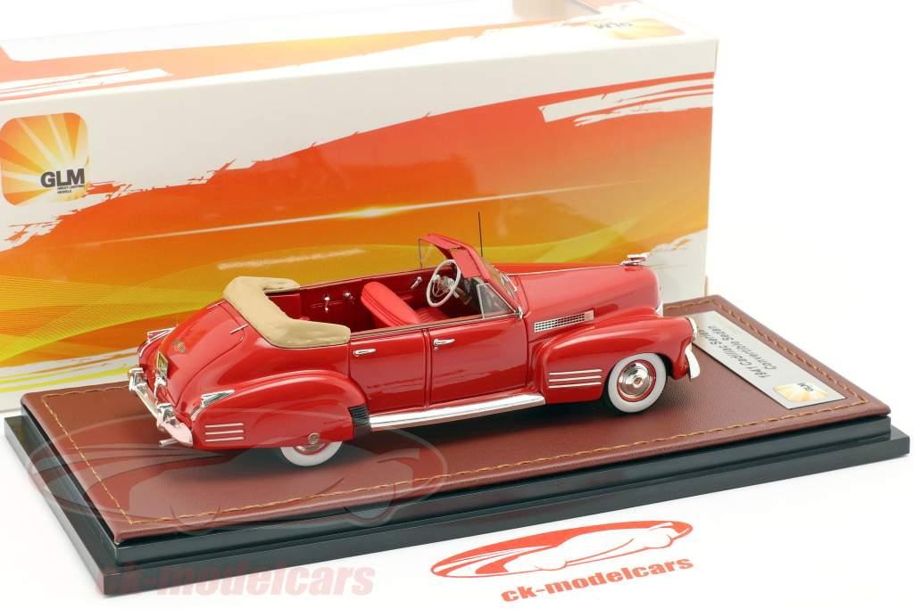 Cadillac Series 62 Convertible Sedan abierto año de construcción 1941 rojo 1:43 GLM