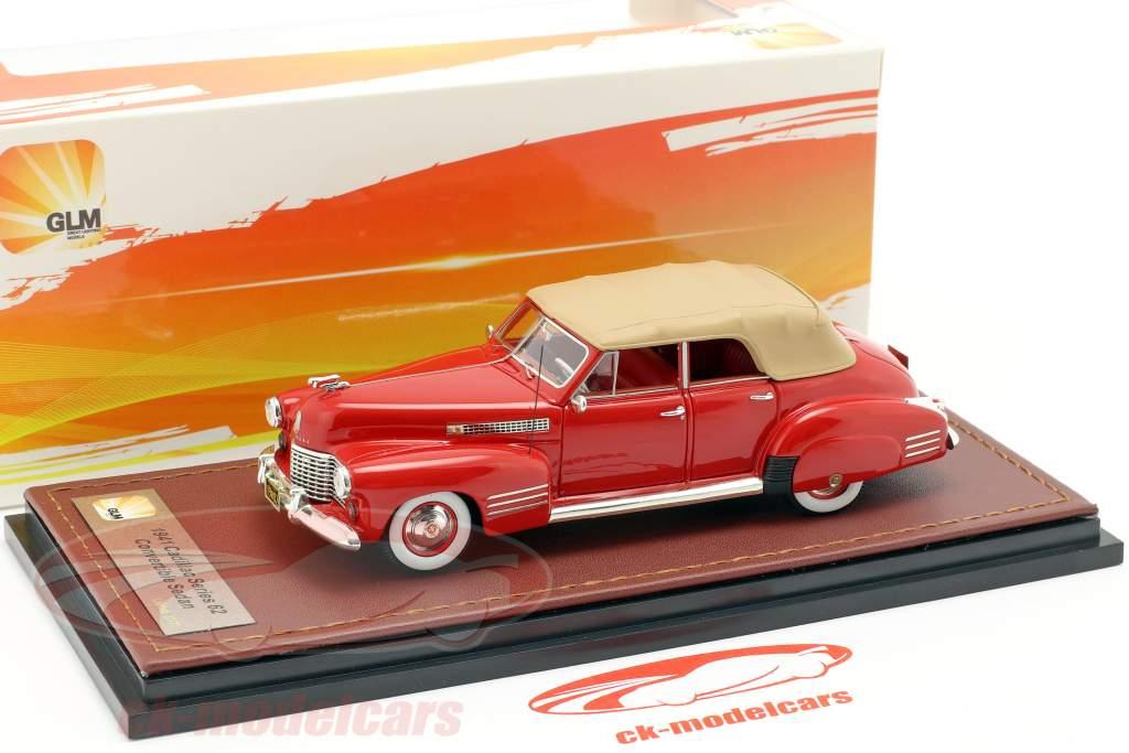 Cadillac Series 62 Convertible Sedan cerrado año de construcción 1941 rojo 1:43 GLM
