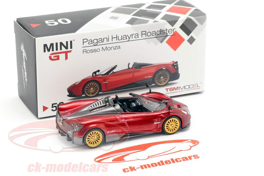 Pagani Huayra Roadster LHD Monza rosso 1:64 TrueScale