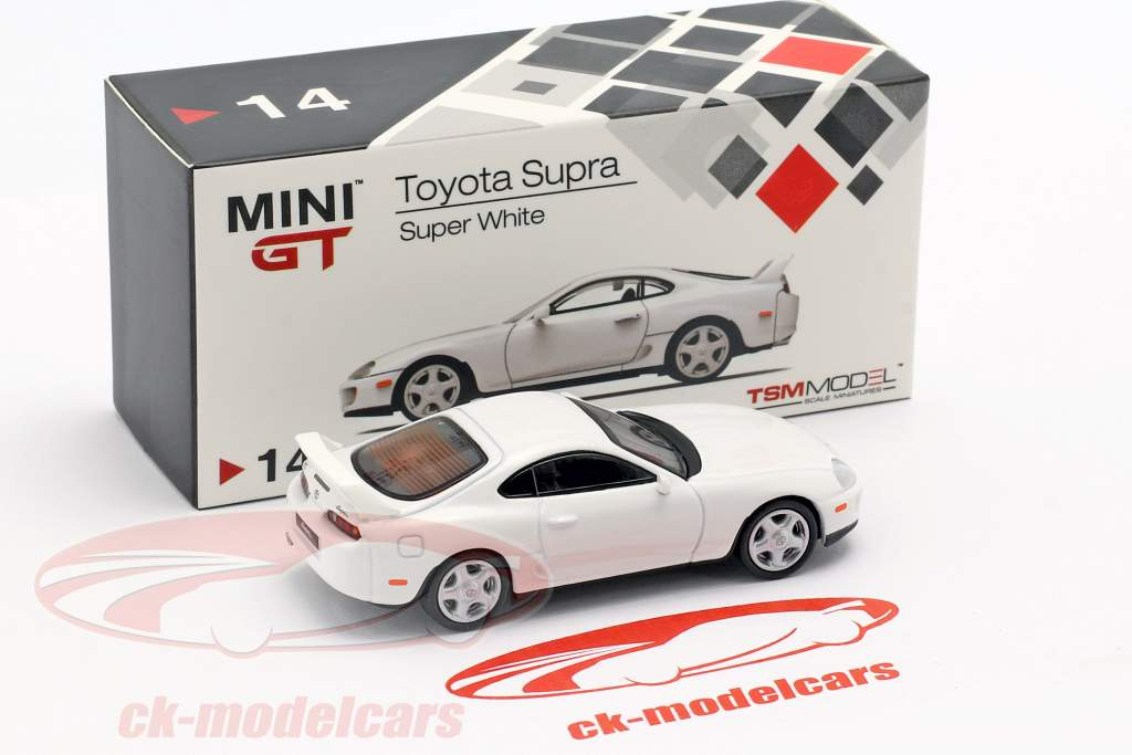 Toyota Supra (JZA80) LHD súper blanco 1:64 TrueScale