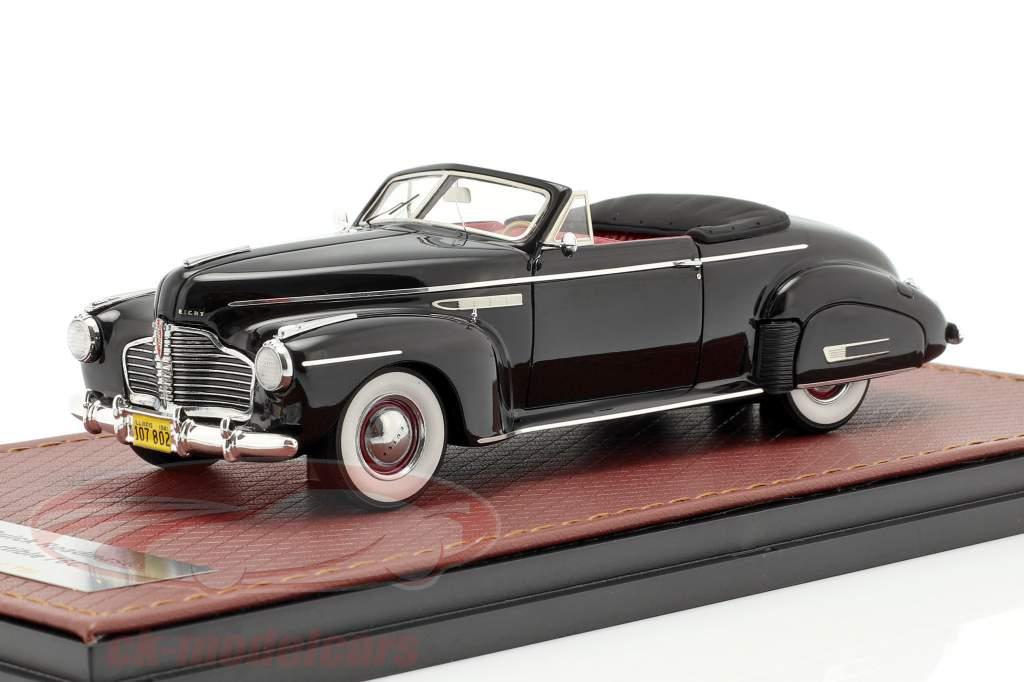 Buick Roadmaster Convertible 76C Open year 1941 black 1:43 GLM