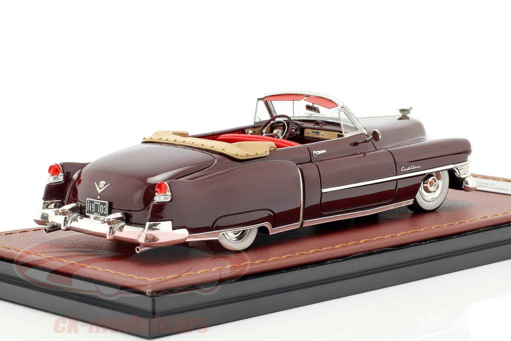 Cadillac Series 62 Convertible Open year 1951 dark brown 1:43 GLM