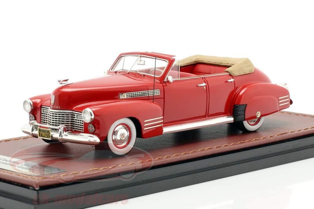Cadillac Series 62 Convertible Sedan ouvert année de construction 1941 rouge 1:43 GLM