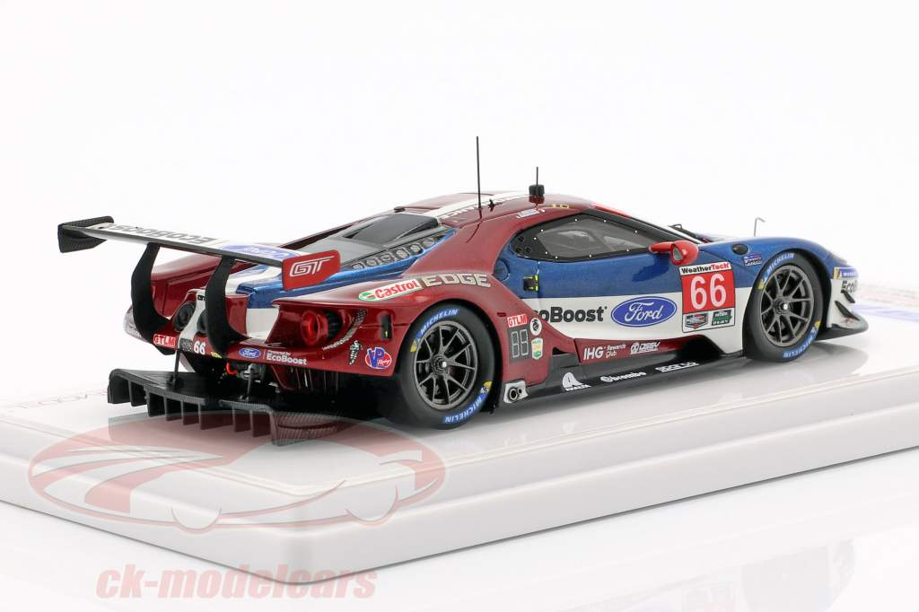 Ford GT #66 segundo GTLM clase 24h Daytona 2018 Bourdais, Hand, Müller 1:43 TrueScale