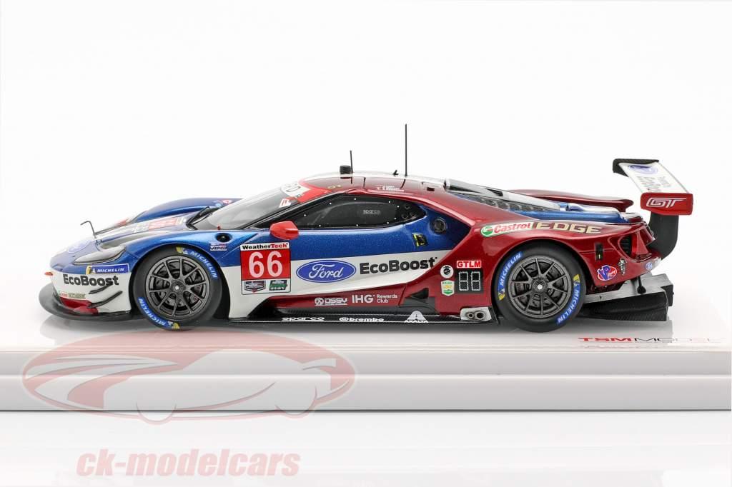 Ford GT #66 2 GTLM classe 24h Daytona 2018 Bourdais, Hand, Müller 1:43 TrueScale