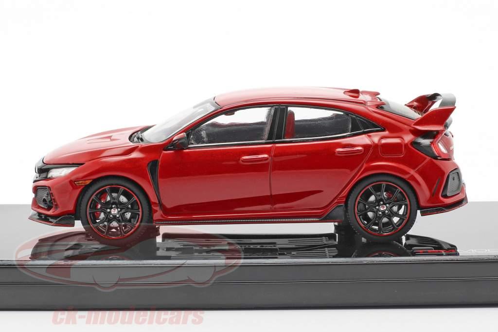 Honda Civic Type R LHD ano de construção 2017 Rallye vermelho 1:43 TrueScale