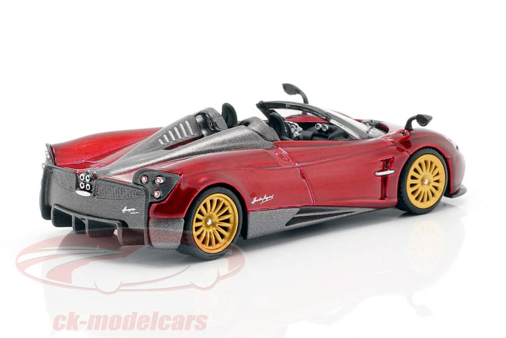 Pagani Huayra Roadster LHD Monza vermelho 1:64 TrueScale