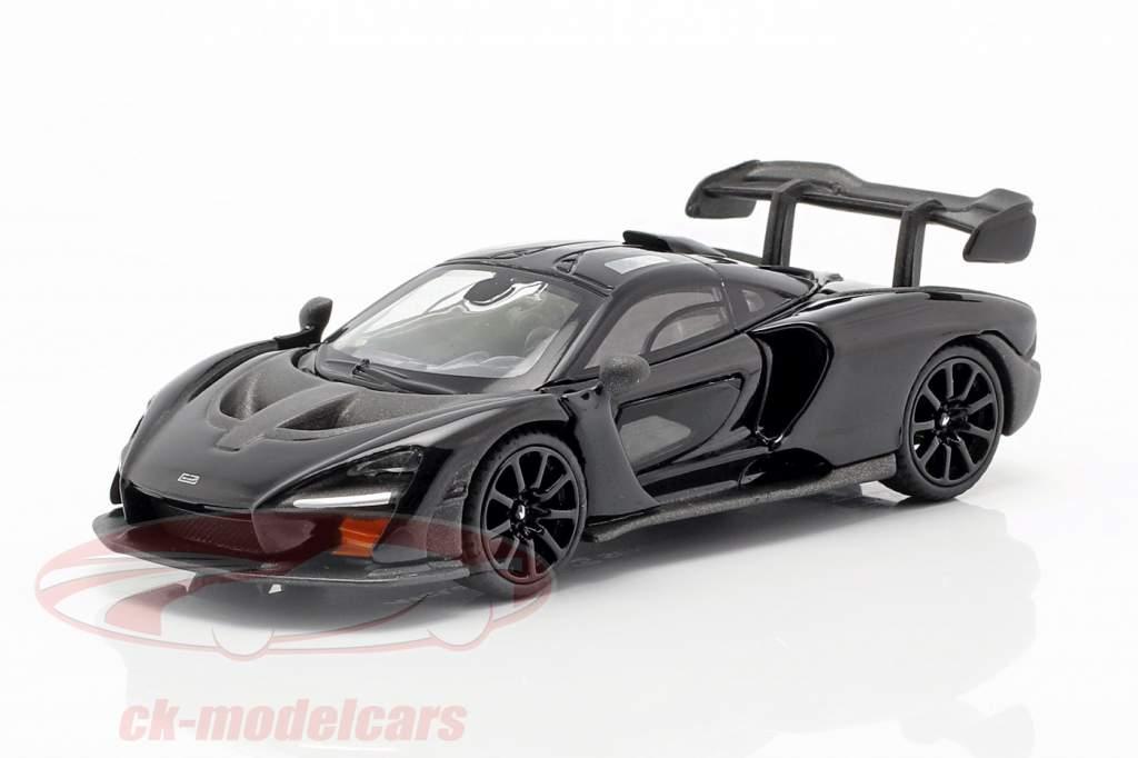 McLaren Senna LHD onyx schwarz 1:64 TrueScale