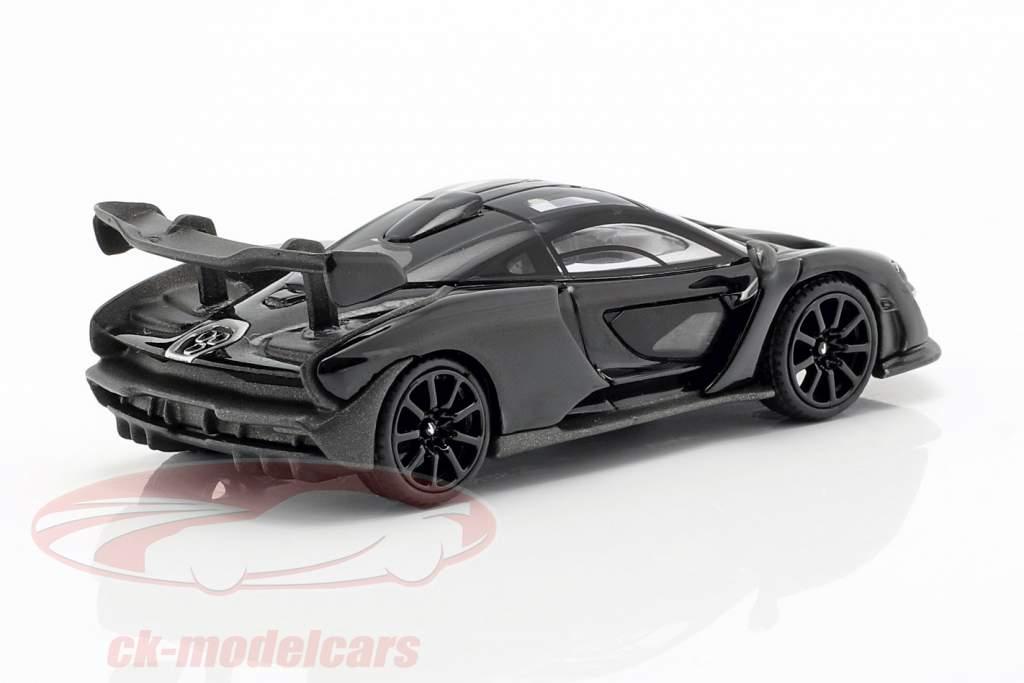 McLaren Senna LHD onyx zwart 1:64 TrueScale