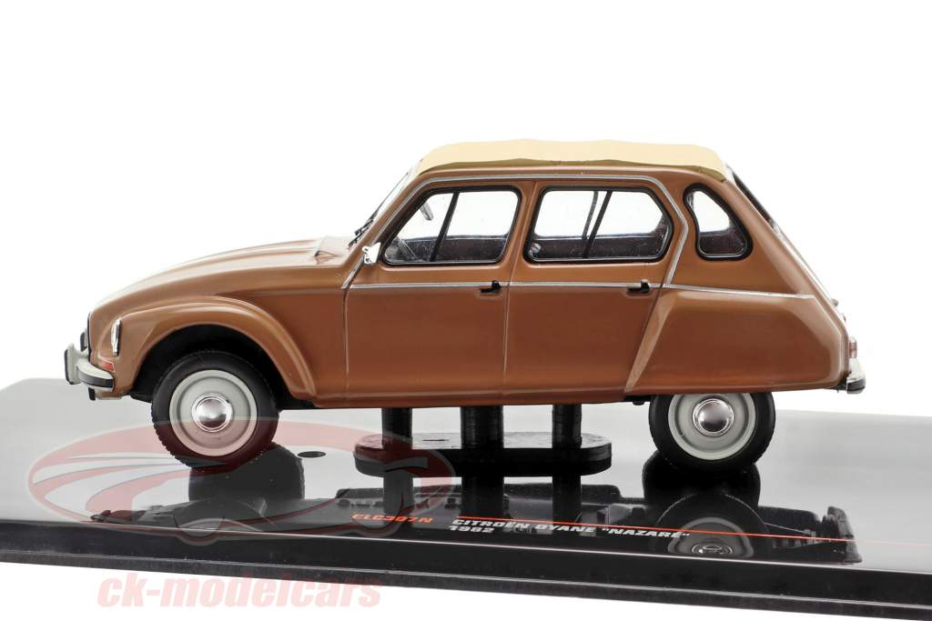 Citroen Dyane Nazare année de construction 1982 brun / beige 1:43 Ixo