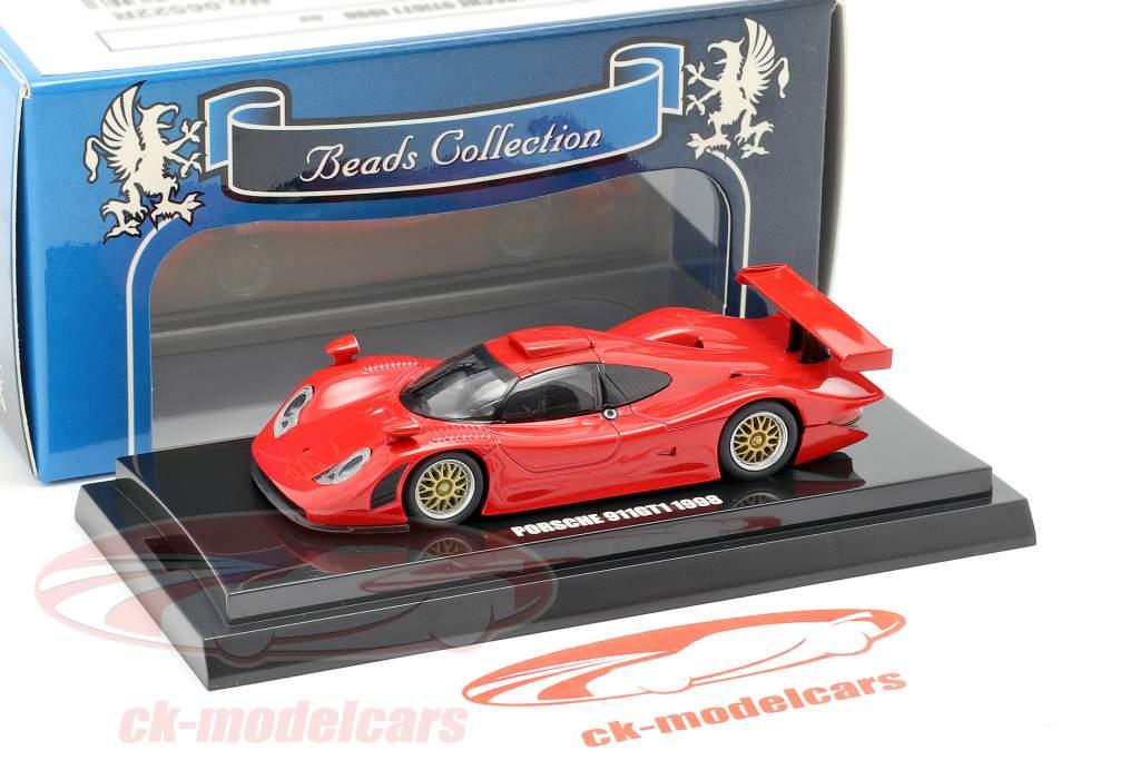 Porsche 911 GT1 año de construcción 1998 rojo 1:64  Kyosho