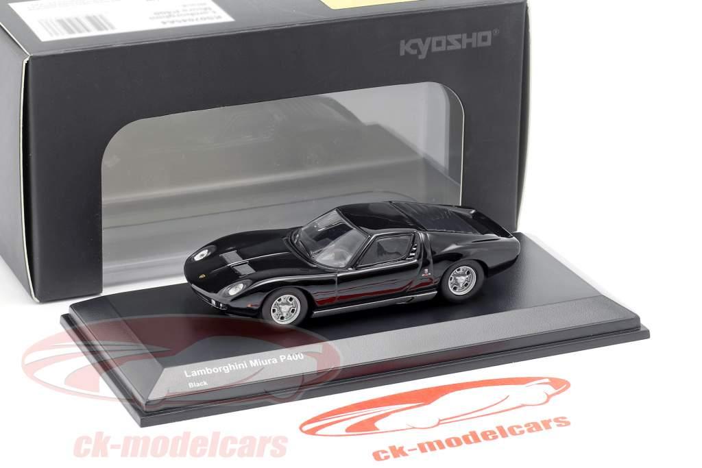 Lamborghini Miura P400 schwarz 1:64 Kyosho