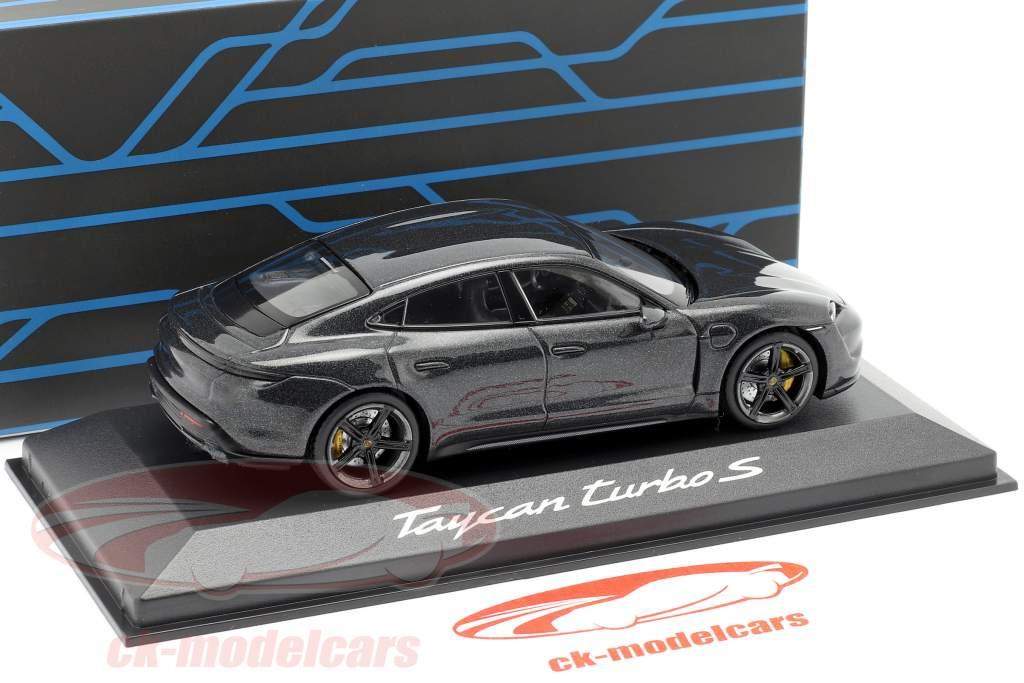 Porsche Taycan Turbo S IAA 2019 вулкан серый металлический 1:43 Minichamps