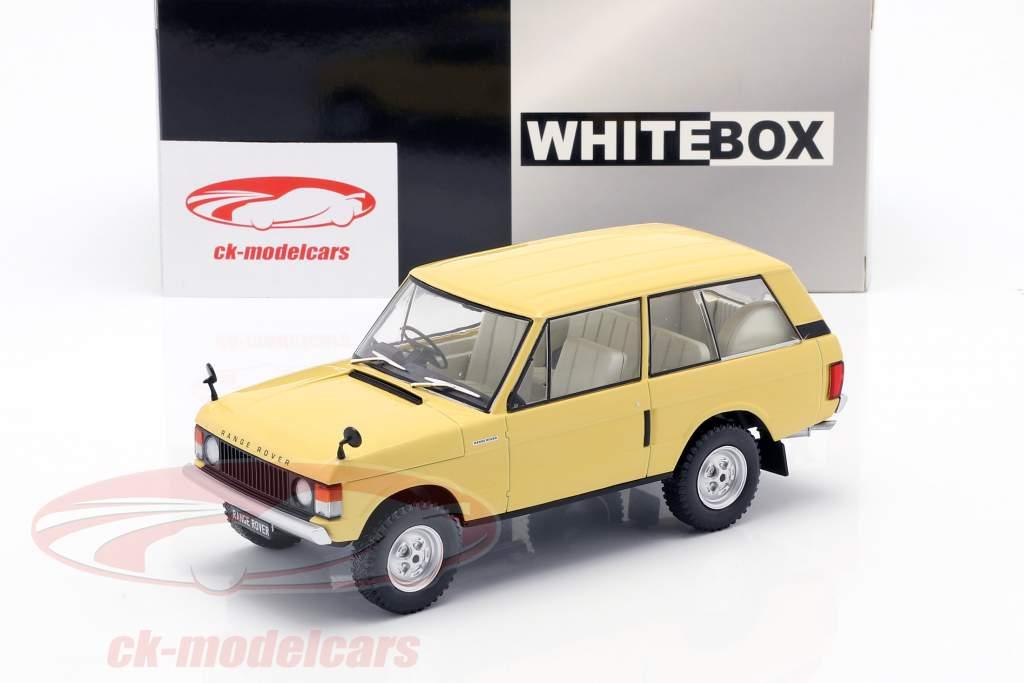 Land Rover Range Rover 3.5 V8 Bouwjaar 1972 lichtgeel 1:24 WhiteBox