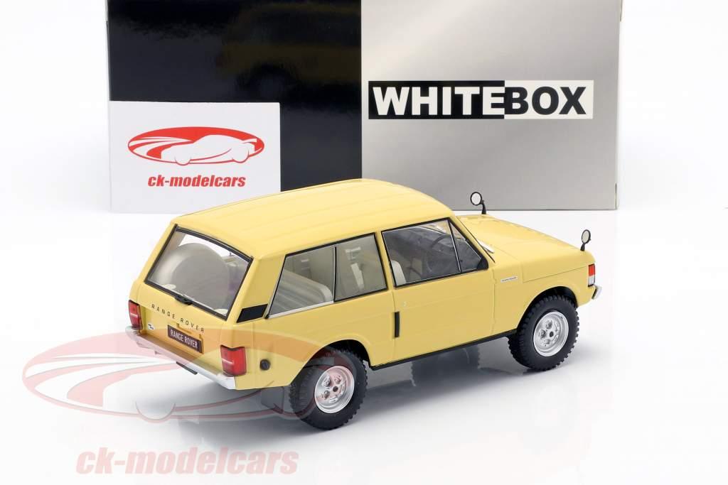 Land Rover Range Rover 3.5 V8 year 1972 light yellow 1:24 WhiteBox