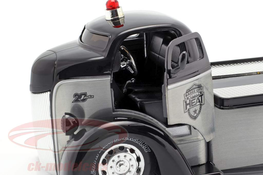 Ford COE Flatbed Truck ano de construção 1947 prata / preto 1:24 Jada Toys