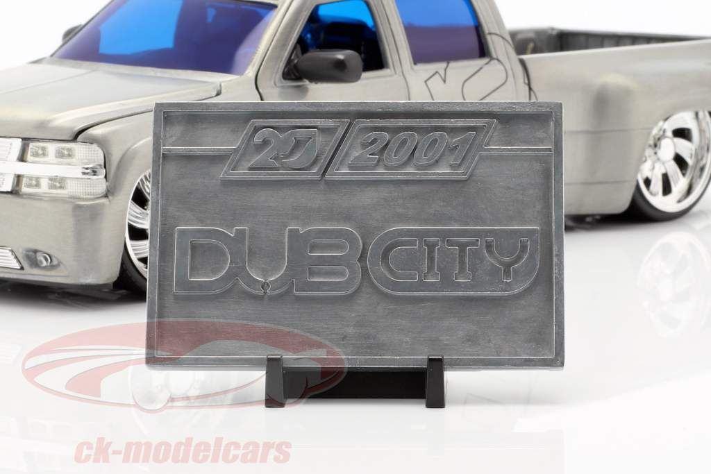 Chevy Silverado Dooley Pick-Up anno di costruzione 1999 argento 1:2