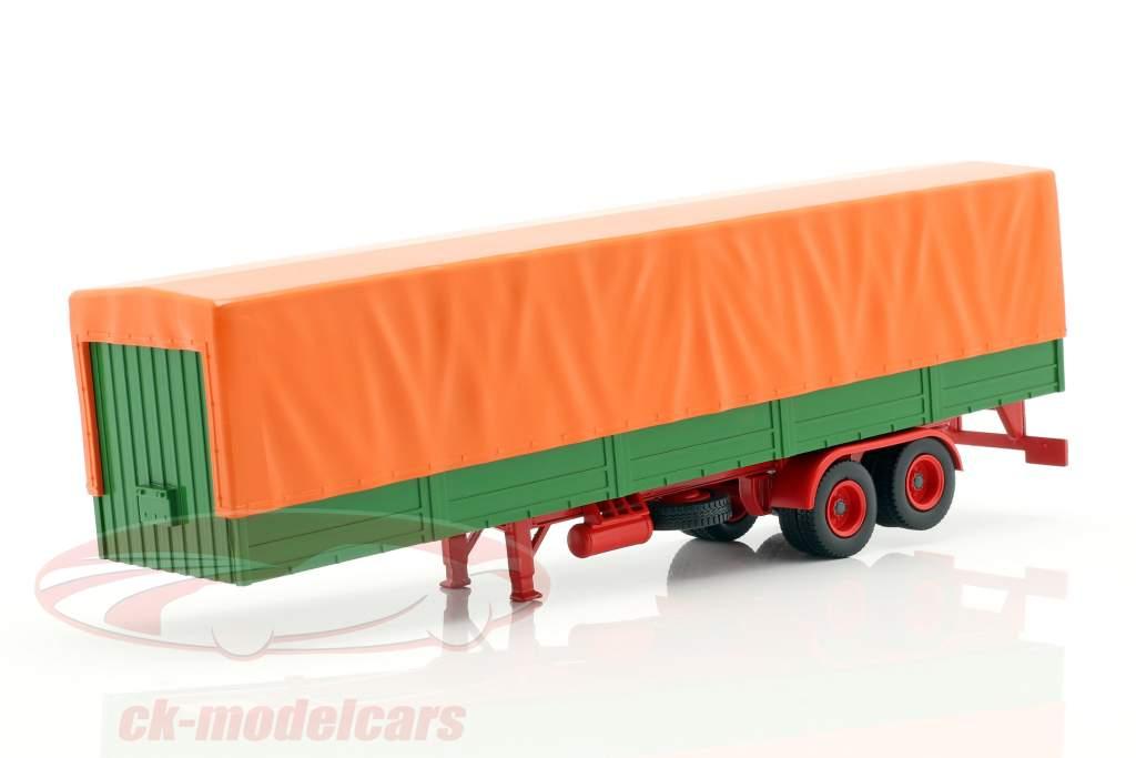 semi-reboques de mesa com cobertura verde / laranja 1:43 ixo