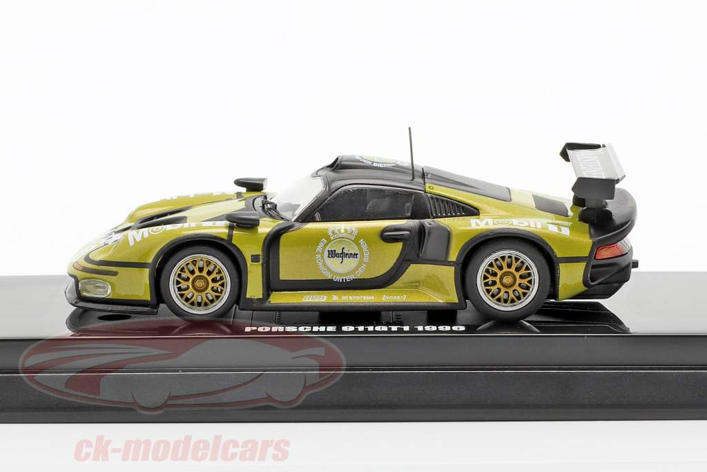 Porsche 911 GT1 #1 Test Car 24h LeMans 1996 1:64 Kyosho