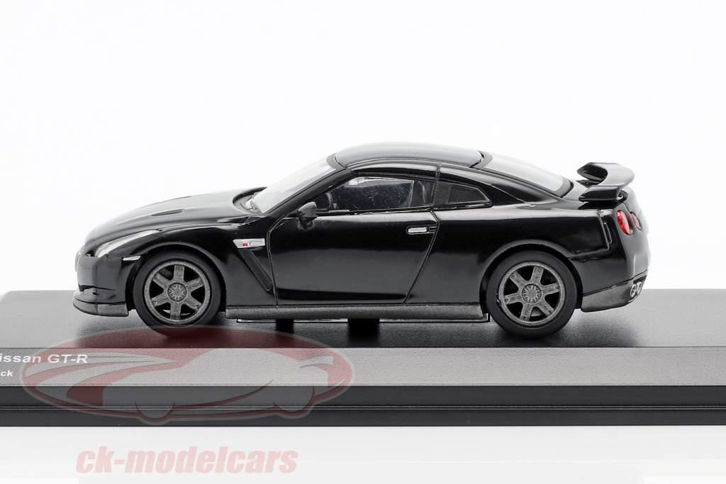Nissan GT-R (R35) schwarz 1:64 Kyosho