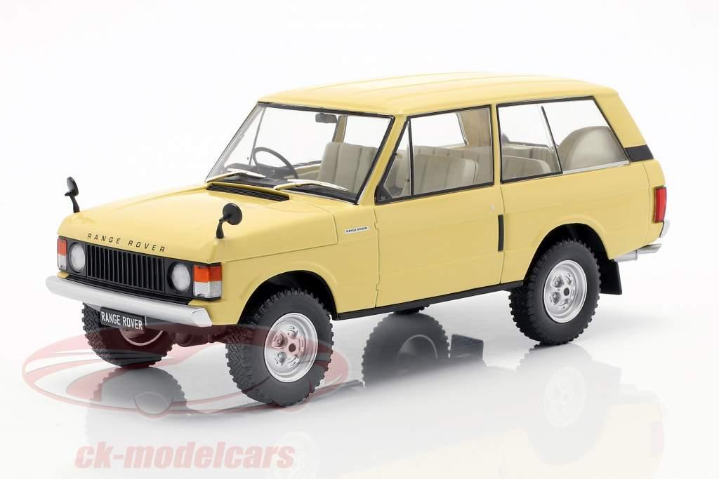 Land Rover Range Rover 3.5 V8 Opførselsår 1972 lys gul 1:24 WhiteBox