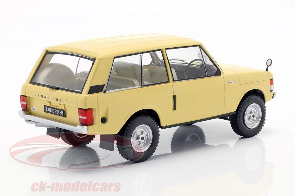 Land Rover Range Rover 3.5 V8 anno di costruzione 1972 giallo chiaro 1:24 WhiteBox