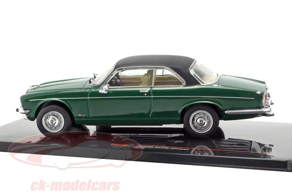 Jaguar XJ12C Coupe Baujahr 1976 dunkelgrün / schwarz 1:43 Ixo