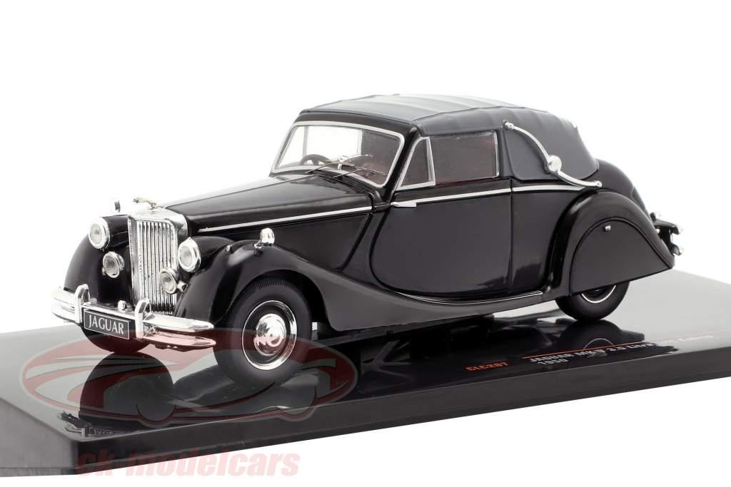 Jaguar Mk V 3.5 ltr. DHC Cabriolet Closed Top Bouwjaar 1950 zwart 1:43 Ixo
