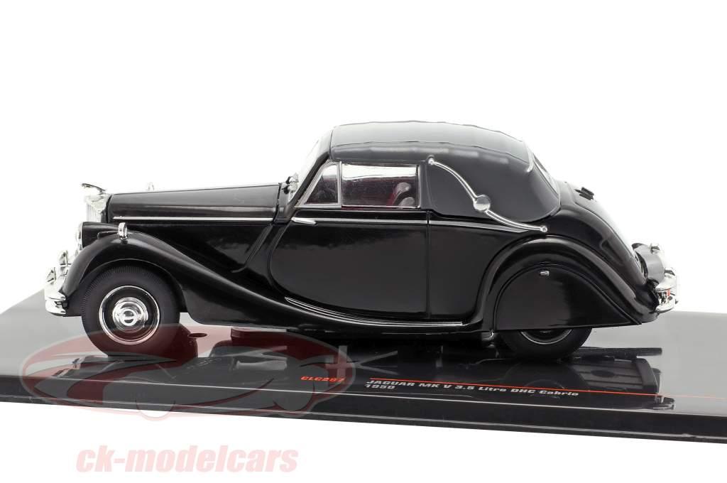 Jaguar Mk V 3.5 ltr. DHC cabriolé Closed Top ano de construção 1950 preto 1:43 Ixo