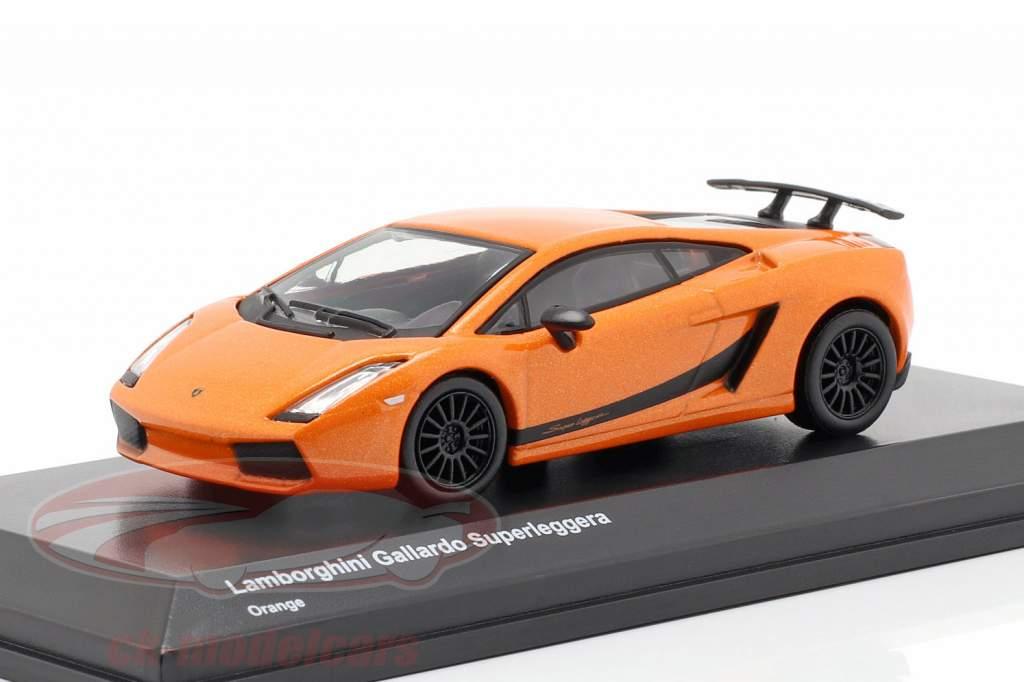 Lamborghini Gallardo Superleggera laranja 1:64 Kyosho