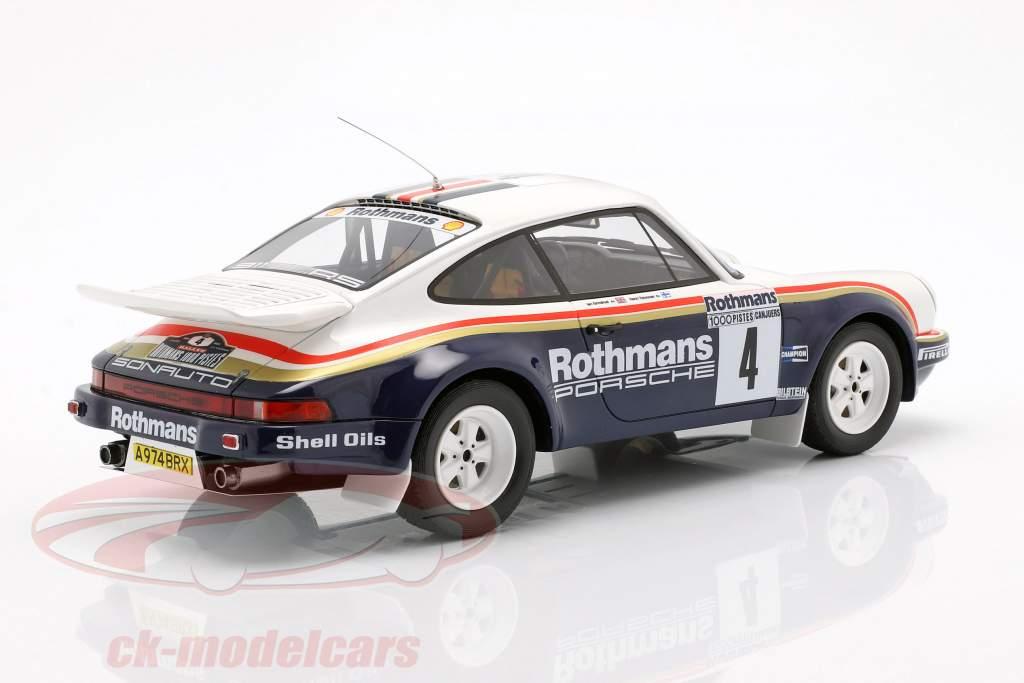 3-Car Set vincitore Rallye des 1000 Pistes 1984 Rothmans Porsche 1:18 OttOmobile