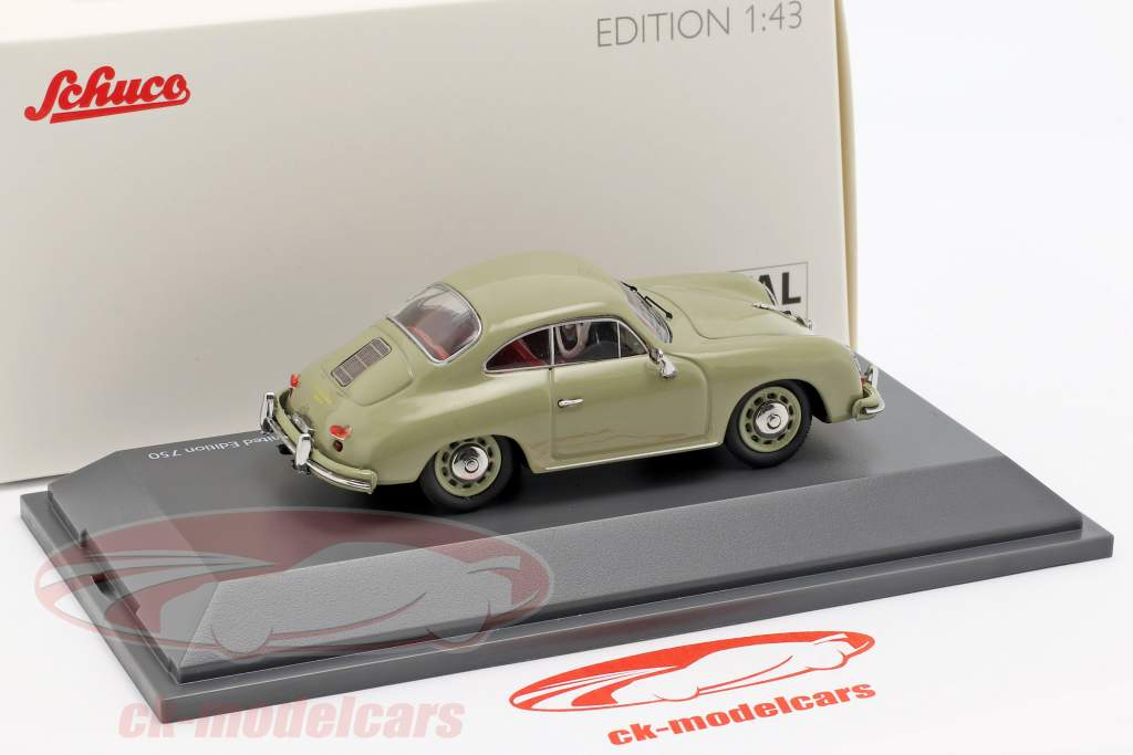 Porsche 356 A Coupe year 1955-1959 stone gray 1:43 Schuco