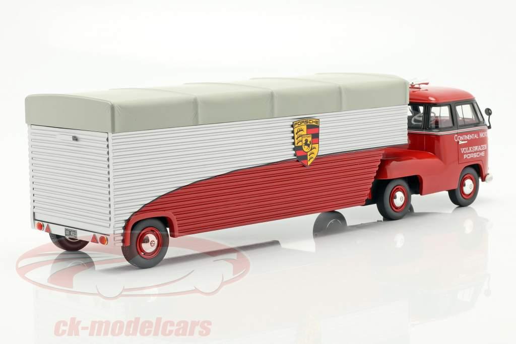 Volkswagen VW T1b Porsche raça caminhão Continental Motors vermelho 1:18 Schuco