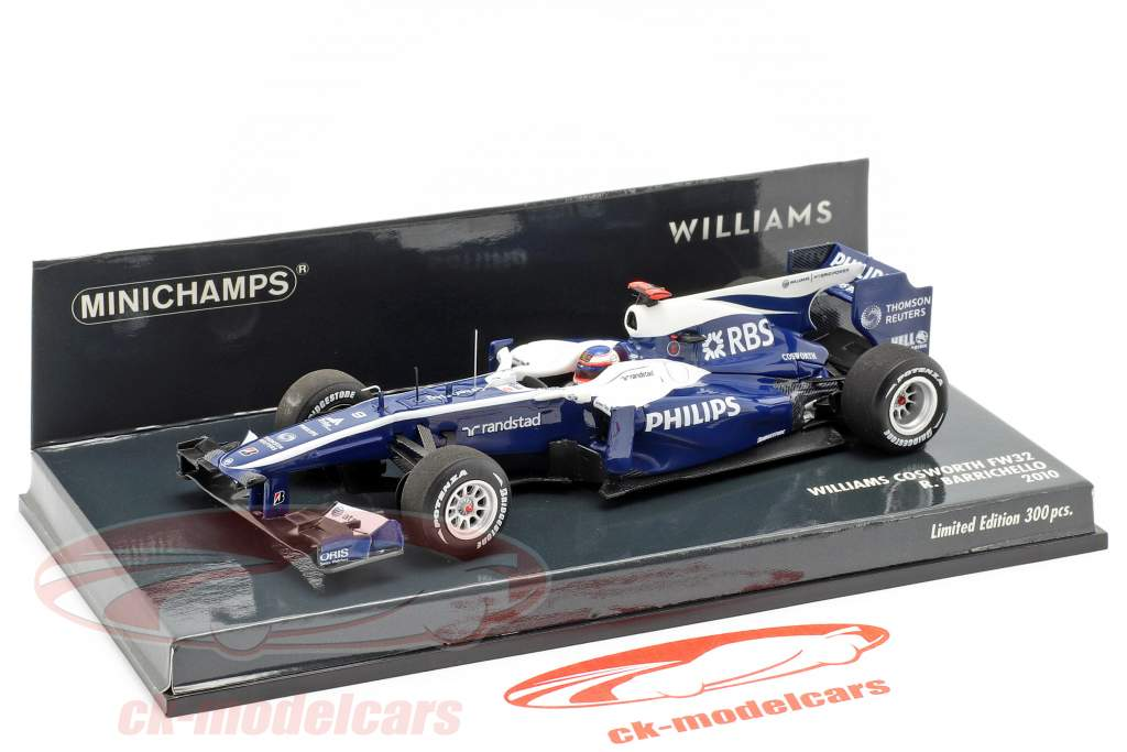 Rubens Barrichello Williams FW32 #9 formule 1 2010 1:43 Minichamps
