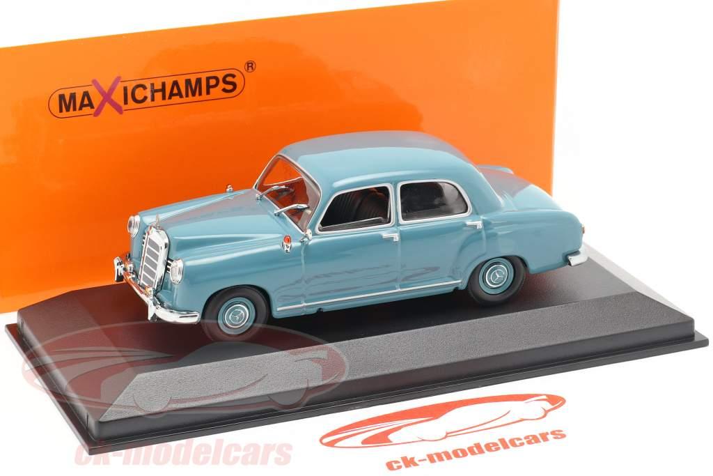 Mercedes-Benz 180 (W120) année de construction 1955 bleu clair 1:43 Minichamps